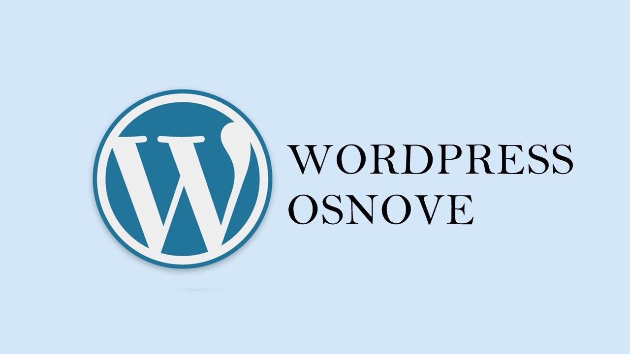 WordPress osnove