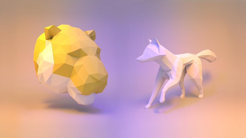 Paper Craft 3D modeli životinja od papira